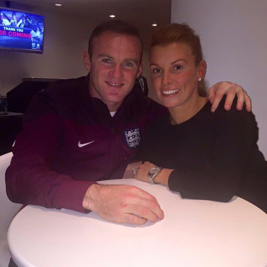 Wayne Rooney e la moglie Coleen
