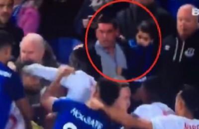 L'Everton identifica e bandisce il tifoso che partecipa col bimbo alla rissa col Lione