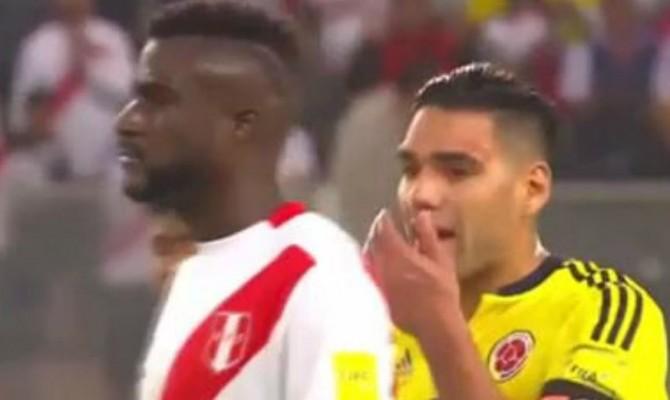 Presunta combine tra Colombia e Perù: Falcao parla con i calciatori avversari