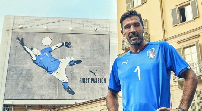 Italia: presentata la nuova maglia, ma la indosserà solo un calciatore