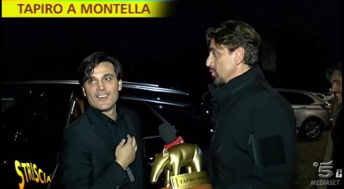 Striscia la notizia consegna il Tapiro d'oro a Montella