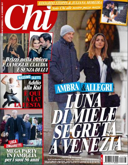 Massimiliano Allegri e Ambra Angiolini