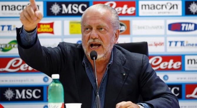 """De Laurentiis: """"Come si fa a passare da Conte a quest'altro? Causato danno ai club"""""""