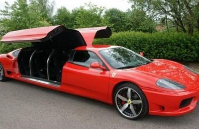 Spende 225.000 euro per trasformare la sua Ferrari in limousine, stabilisce anche record