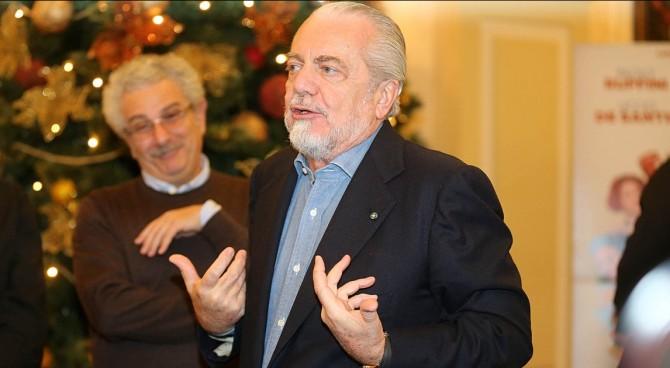 Napoli, De Laurentiis: Importante essere primi alla fine. Peccato giocare a Natale