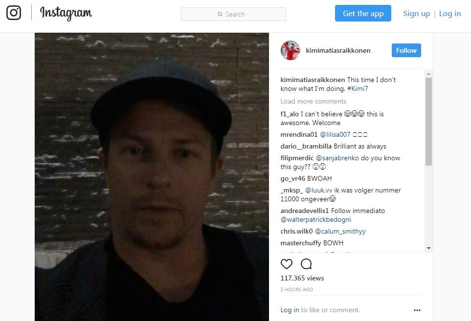 """Kimi Raikkonen presenta il suo Instagram: """"Questa volta non so cosa sto facendo""""…"""