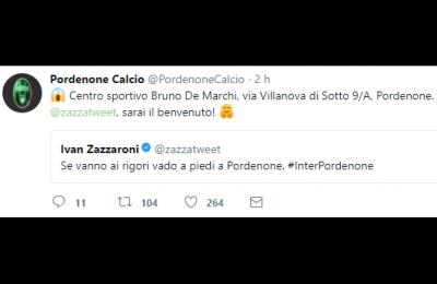 """Zazzaroni incauto: """"Se vanno ai rigori, vado a piedi a Pordenone"""". Lo irridono pure in Svizzera"""