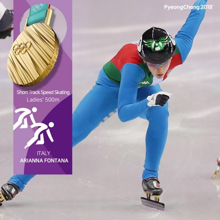 arianna fontana italia oro olimpiade olimpiadi invernali pyeongchang corea del sud short track 500 metri