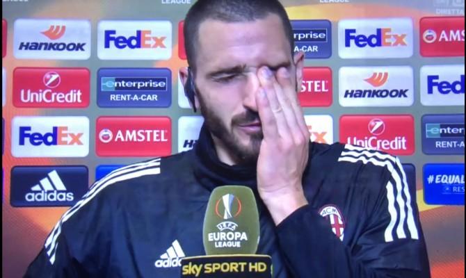 Leonardo Bonucci piange per Astori: