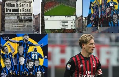 """Murale Inter imbrattato, si scatena il botta e risposta fra i tifosi: """"È stato Ignazio Abate"""""""