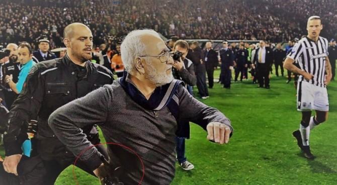 PAOK, squalificato il presidente Ivan Savvidis