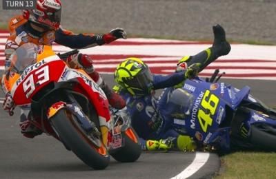 Valentino Rossi e Marc Marquez litigano anche in Safety commission