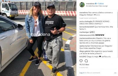 Maradona ad 'Amici' dalla De Filippi per conoscere il nipote