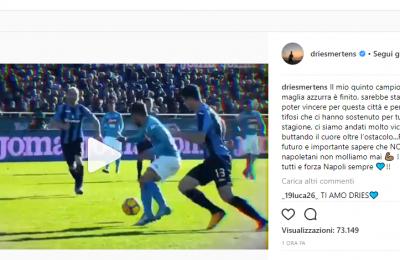 """Il messaggio di Mertens ai tifosi azzurri: """"Noi napoletani non molliamo mai"""""""