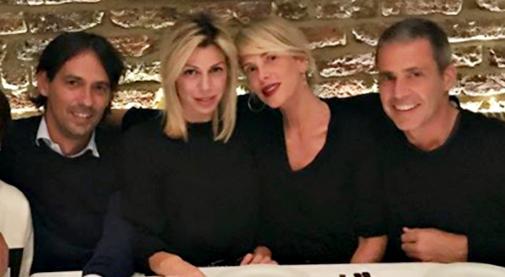 Alessia Marcuzzi al matrimonio dell'ex Simone Inzaghi: testimone scatenata al party