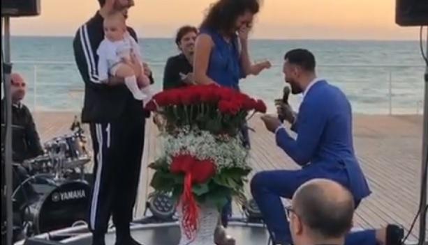 Antonio Donnarumma, proposta matrimonio a Stefania