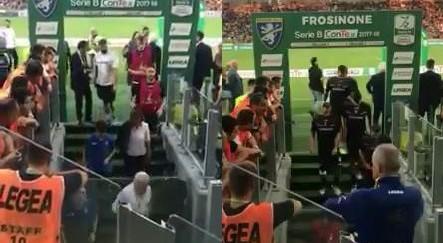 """Frosinone-Palermo, il video degli insulti prima del match: """"Mafiosi!"""""""