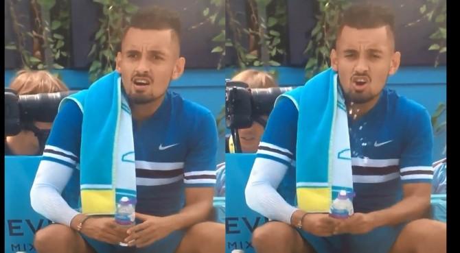 Kyrgios simula masturbazione ed eiaculazione con una bottiglietta, in diretta TV