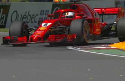 A Montreal pole record di Vettel, solo quarto Hamilton. Nel box Ferrari anche Bonucci e Chiellini