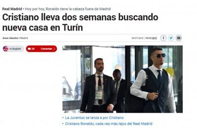 """Cristiano Ronaldo cerca casa a Torino. Lo scrive Marca e per O Jogo CR7 """"ha detto sì alla Juve"""""""