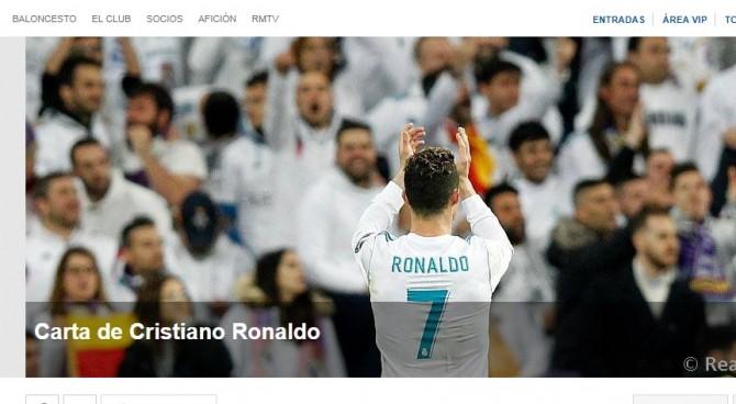 """La lettera d'addio di Ronaldo: """"Si apre una nuova fase della mia vita e carriera"""""""