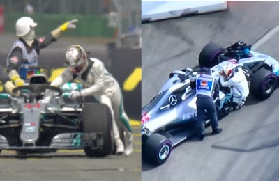 Germania, pole Vettel; Hamilton esce in Q1! Prova a spingere la macchina ai box, poi si dispera