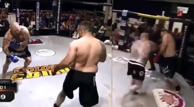 MMA, finge un malore: poi la raffica di colpi sull'avversario colto di sorpresa