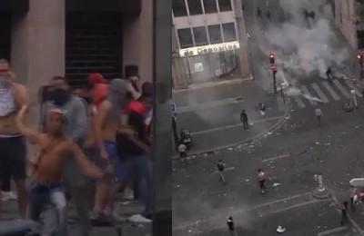 Parigi, la festa per il Mondiale si trasforma in guerriglia urbana: la polizia usa i fumogeni