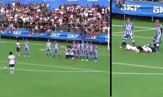 Il bizzarro schema su punizione della squadra giovanile giapponese. E finisce a palla in testa…