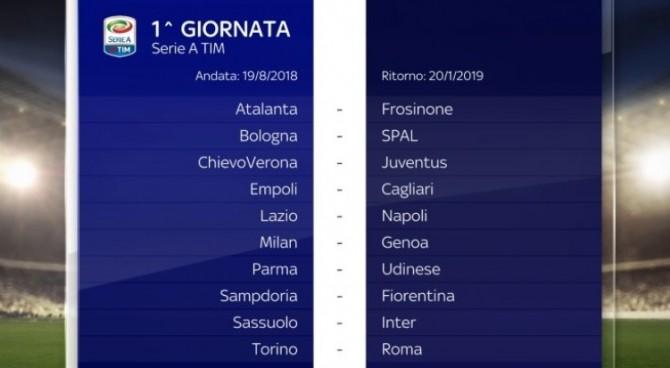 Inter Napoli Calendario.Serie A Il Calendario Completo Cr7 Esordisce A Verona