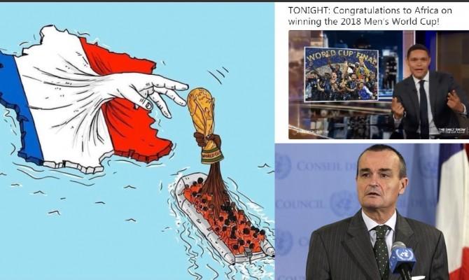"""Il comico accusa: """"Il Mondiale? L'ha vinto l'Africa"""". La risposta: """"Sono francesi solo i bianchi?"""""""