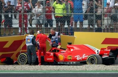 """Germania, la delusione di Vettel: """"Un errore piccolo dalle conseguenze enormi. La pioggia non ci voleva"""""""