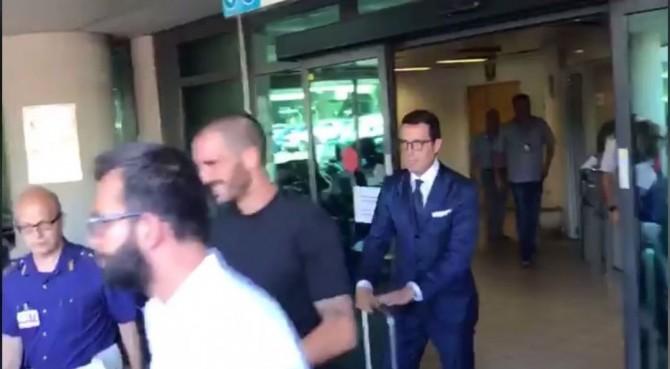 Juve: Bonucci è tornato a Torino. Ad accoglierlo…nessuno