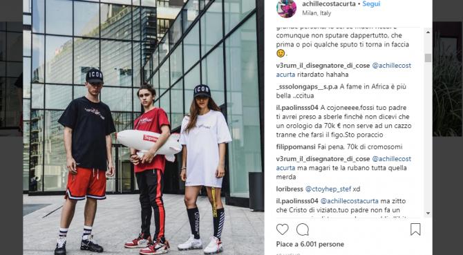 Haters in azion e contro il figlio di Costacurta e Colombari. Raffica di insulti a un post su instagram