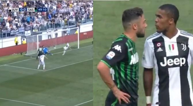 Ronaldo si sblocca: doppietta e vittoria Juventus. Douglas Costa choc, gomitata e sputo a Di Francesco