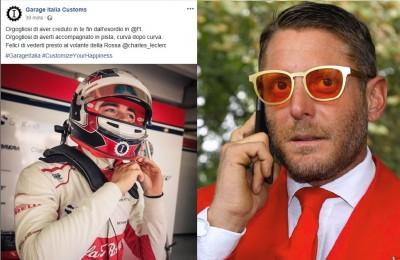"""Leclerc, l'azienda di Lapo Elkann anticipa la Ferrari e dà l'annuncio: """"Felici di vederti presto alla Rossa"""""""