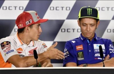 """Marquez a Misano: """"Voglio far pace con Rossi"""", la risposta: """"Niente da chiarire"""" (e non gli stringe la mano)"""