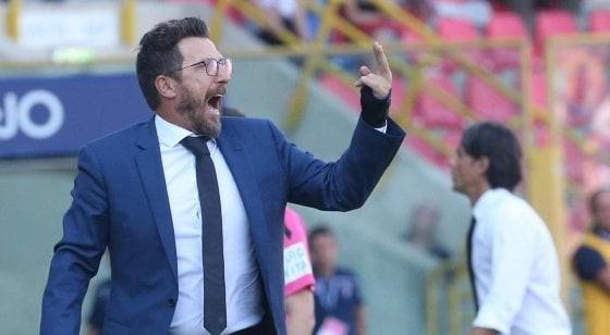 """Crollo Roma a Bologna, squadra in ritiro punitivo. Di Francesco rischia, Pallotta: """"Sono disgustato"""""""