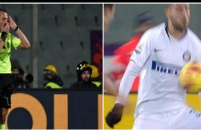 L'arbitro Abisso minacciato di morte. Ma l'errore sul rigore di Fiorentina-Inter è clamoroso